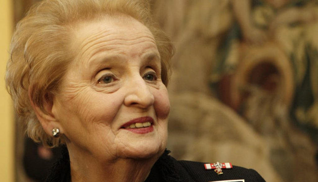 Former U.S. State Secretary Albright attends The International Conference on new NATO Strategic Concept in Prague